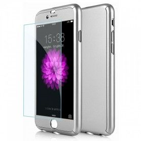 Husa 360 Protectie Totala Fata Spate pentru iPhone 6 Plus / 6s Plus , Argintie  - 1