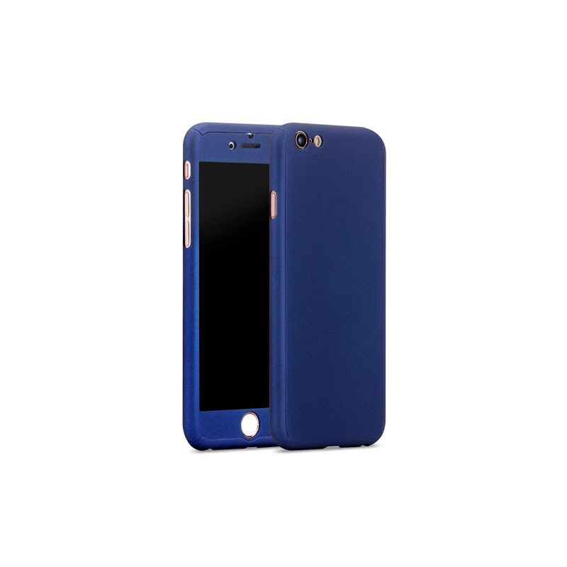 Husa 360 Protectie Totala Fata Spate pentru iPhone 7 Plus , Dark Blue  - 1