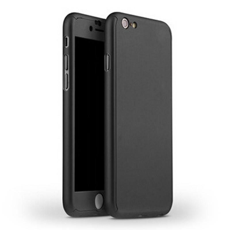 Husa 360 Protectie Totala Fata Spate pentru iPhone 8 Plus , Neagra  - 1