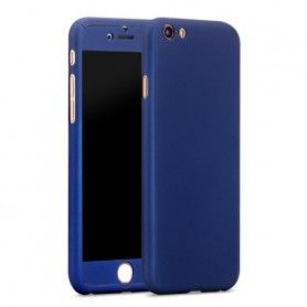 Husa 360 Protectie Totala Fata Spate pentru iPhone 8 Plus , Dark Blue  - 1