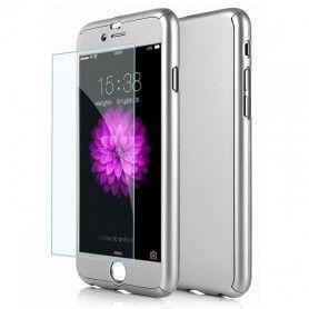 Husa 360 Protectie Totala Fata Spate pentru iPhone 8 Plus , Argintie  - 1