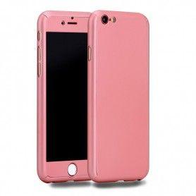 Husa 360 Protectie Totala Fata Spate pentru iPhone 8 Plus , Rose Gold  - 1