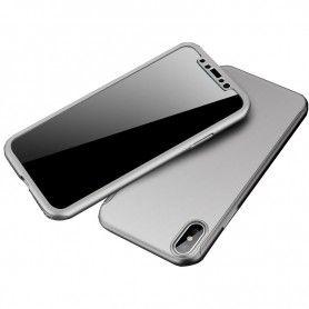 Husa 360 Protectie Totala Fata Spate pentru iPhone X / XS , Argintie  - 1