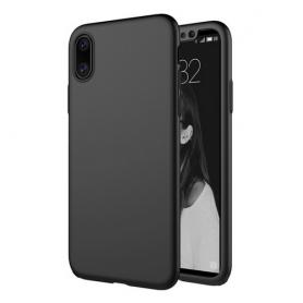 Husa 360 Protectie Totala Fata Spate pentru iPhone X / XS , Neagra  - 1