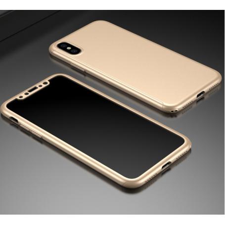 Husa 360 Protectie Totala Fata Spate pentru iPhone X / XS , Aurie la pret imbatabile de 45,00lei , intra pe PrimeShop.ro.ro si convinge-te singur