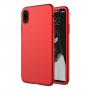 Husa 360 Protectie Totala Fata Spate pentru iPhone X / XS , Rosie