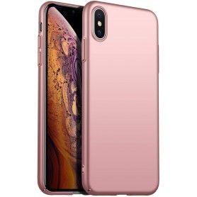Husa 360 Protectie Totala Fata Spate pentru iPhone X / XS , Rose Gold  - 1