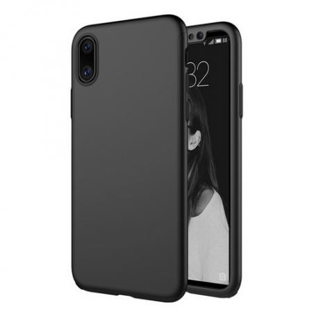 Husa 360 Protectie Totala Fata Spate pentru iPhone XS Max , Neagra la pret imbatabile de 39,90lei , intra pe PrimeShop.ro.ro si convinge-te singur