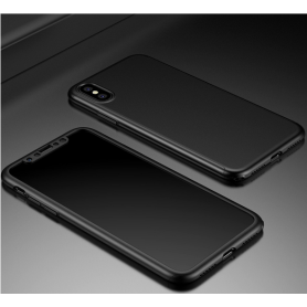 Husa 360 Protectie Totala Fata Spate pentru iPhone XS Max , Neagra  - 2