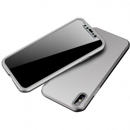 Husa 360 Protectie Totala Fata Spate pentru iPhone XS Max , Argintie la pret imbatabile de 39,00LEI , intra pe PrimeShop.ro.ro si convinge-te singur