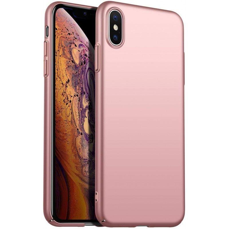 Husa 360 Protectie Totala Fata Spate pentru iPhone XS Max , Rose Gold  - 1