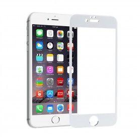 Folie Protectie Ecran pentru iPhone 6 Plus / 6S Plus, Sticla securizata, Full 3D 0.33mm, Alb  - 1