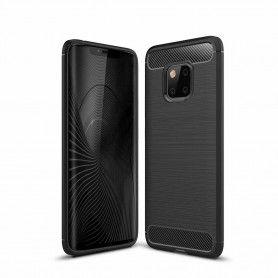 Husa Tpu Carbon pentru Huawei Mate 20 Pro , Neagra  - 1