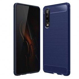 Husa Tpu Carbon pentru Huawei P30 , Midnight Blue  - 1
