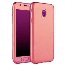 Husa 360 Protectie Totala Fata Spate pentru Samsung Galaxy J5 (2017) J530, Rose Gold  - 1