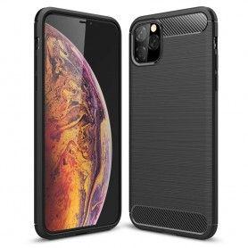 Husa Tpu Carbon pentru iPhone 11 Pro Max , Neagra  - 1