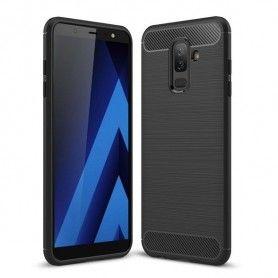 Husa Tpu Carbon pentru Samsung Galaxy A6+ Plus (2018), Neagra  - 1