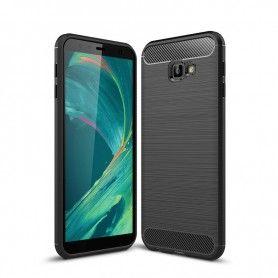 Husa Tpu Carbon pentru Samsung Galaxy J4+ Plus - J415, Neagra  - 1