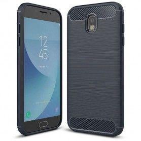 Husa Tpu Carbon pentru Samsung Galaxy J5 (2017), Midnight Blue  - 1