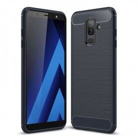 Husa Tpu Carbon pentru Samsung Galaxy J6+ Plus, Neagra  - 1