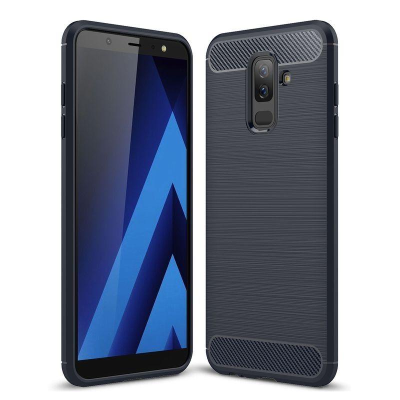 Husa Tpu Carbon pentru Samsung Galaxy J7 (2017) - J730, Midnight Blue  - 1