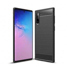 Husa Tpu Carbon pentru Samsung Galaxy Note 10, Neagra  - 1