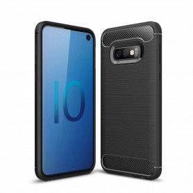 Husa Tpu Carbon pentru Samsung Galaxy S10e, Neagra  - 1