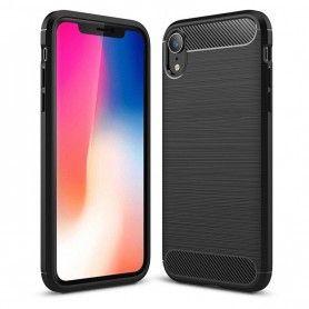 Husa Tpu Carbon pentru iPhone XS Max, Neagra  - 1