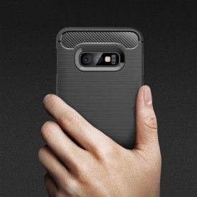 Husa Tpu Carbon pentru Samsung Galaxy S10e, Midnight Blue  - 3