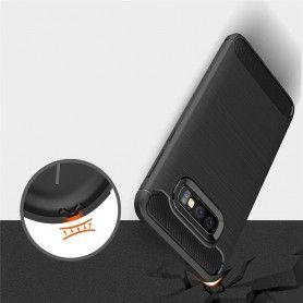 Husa Tpu Carbon pentru Samsung Galaxy S10e, Midnight Blue  - 5