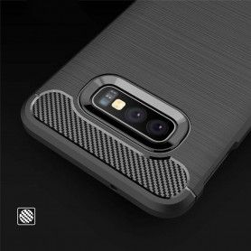 Husa Tpu Carbon pentru Samsung Galaxy S10e, Midnight Blue  - 7