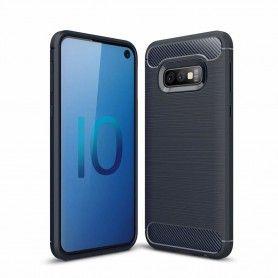 Husa Tpu Carbon pentru Samsung Galaxy S10e, Midnight Blue  - 1