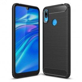 Husa Tpu Carbon pentru Huawei Y7 (2019), Neagra  - 1