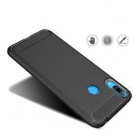 Husa Tpu Carbon pentru Huawei Y7 (2019), Midnight Blue  - 3