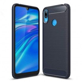 Husa Tpu Carbon pentru Huawei Y7 (2019), Midnight Blue  - 1