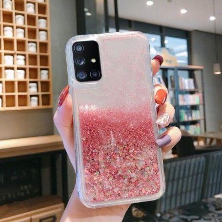 Husa Glitter Lichid pentru Samsung Galaxy S10 Lite / Galaxy A91 , Transparenta cu glitter roz la pret imbatabile de 29,00lei , intra pe PrimeShop.ro.ro si convinge-te singur