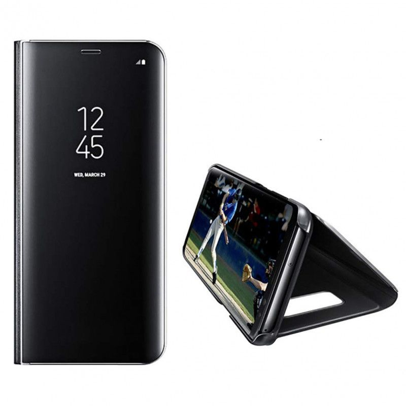 Husa Telefon Huawei P40 Lite E / Huawei Y7p - Flip Mirror Stand Clear View  - 1
