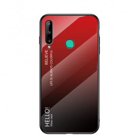Husa Huawei P40 Lite E / Huawei Y7p - Gradient Glass, Rosu cu Negru la pret imbatabile de 46,90lei , intra pe PrimeShop.ro.ro si convinge-te singur