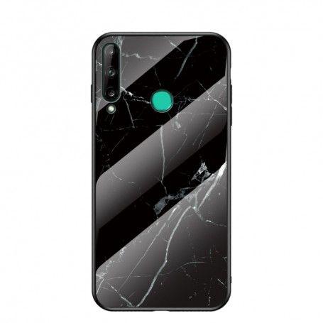 Husa Huawei P40 Lite E / Huawei Y7p - Gradient Glass, Marble Negru/Alb la pret imbatabile de 45,00lei , intra pe PrimeShop.ro.ro si convinge-te singur