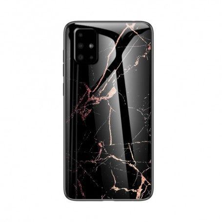 Husa Samsung Galaxy S10 Lite / Galaxy A91 - Gradient Glass, Marble Negru/Gold la pret imbatabile de 45,00lei , intra pe PrimeShop.ro.ro si convinge-te singur