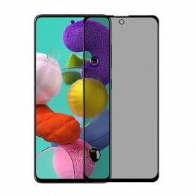 Folie protectie Samsung Galaxy A71 / Galaxy Note 10 Lite , sticla securizata, Privacy Anti Spionaj, Neagra  - 1