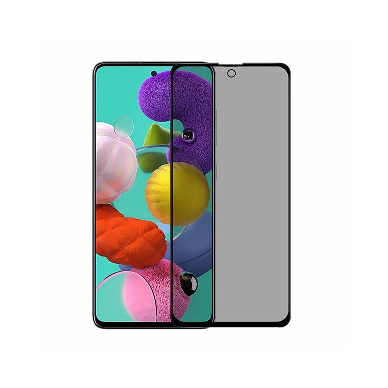 Folie protectie Samsung Galaxy S10 Lite / Galaxy A91 , sticla securizata, Privacy Anti Spionaj, Neagra  - 1