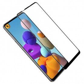 Folie Protectie Ecran pentru Samsung Galaxy A21s, Sticla securizata, Negru  - 1