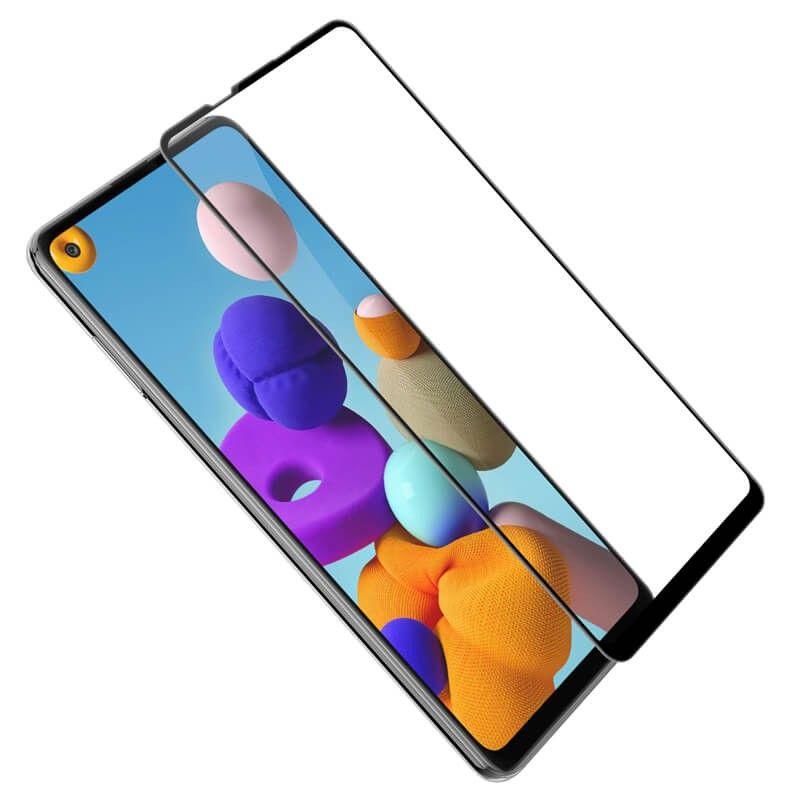 Folie Protectie Ecran pentru Samsung Galaxy A21s, Sticla securizata, Negru