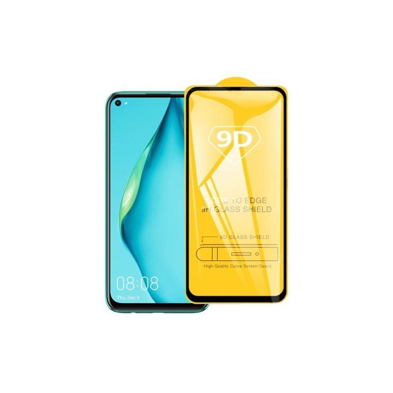 Folie Protectie Ecran pentru Huawei Nova 5T, Sticla securizata, Negru