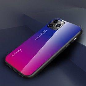 Husa iPhone 11 Pro Max - Gradient Glass, Albastru cu Violet  - 2