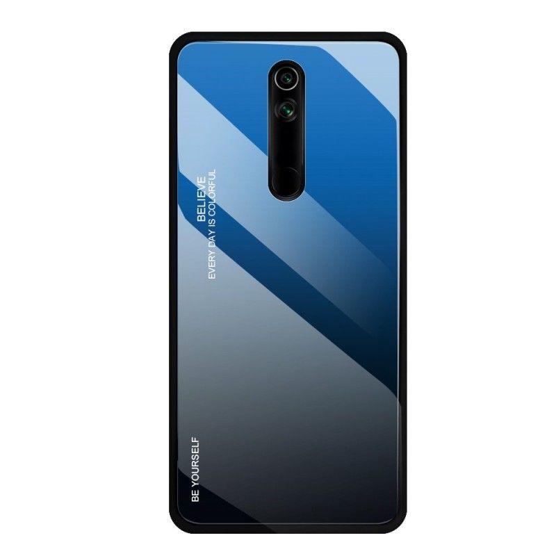 Husa Huawei Mate 20 Lite - Gradient Glass, Albastru cu Negru  - 1