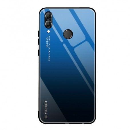 Husa Huawei P Smart (2019) - Gradient Glass, Albastru cu Negru la pret imbatabile de 45,00lei , intra pe PrimeShop.ro.ro si convinge-te singur