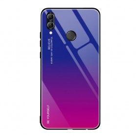 Husa Huawei P Smart (2019) - Gradient Glass, Albastru cu Violet  - 1