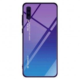 Husa Samsung Galaxy A70 - Gradient Glass, Violet cu Albastru  - 1